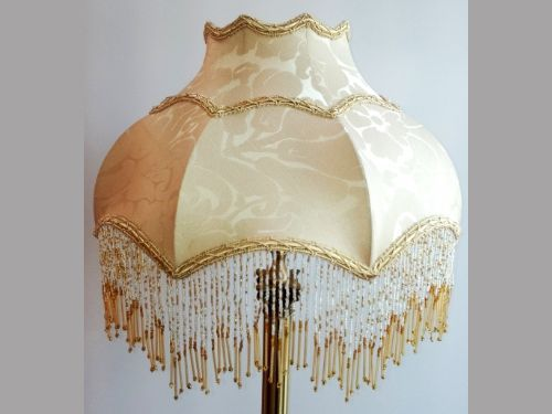 Maia beige and gold beaded fringe luxury lamp shade featuring in maia beige and gold beaded fringe luxury lamp shade featuring in programmes such as downton abbey aloadofball Gallery