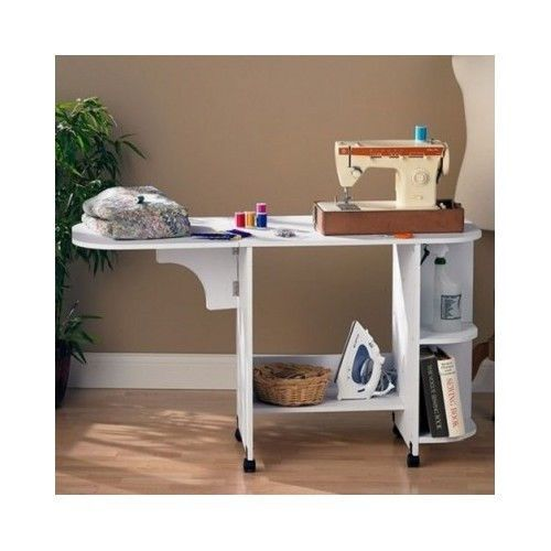 White rolling crafts sewing table cart desk cabinet storage drop white rolling crafts sewing table cart desk cabinet storage drop leaf extension watchthetrailerfo
