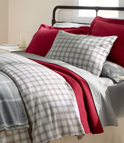 Heritage Chamois Flannel Comforter Cover Collection Plaid With