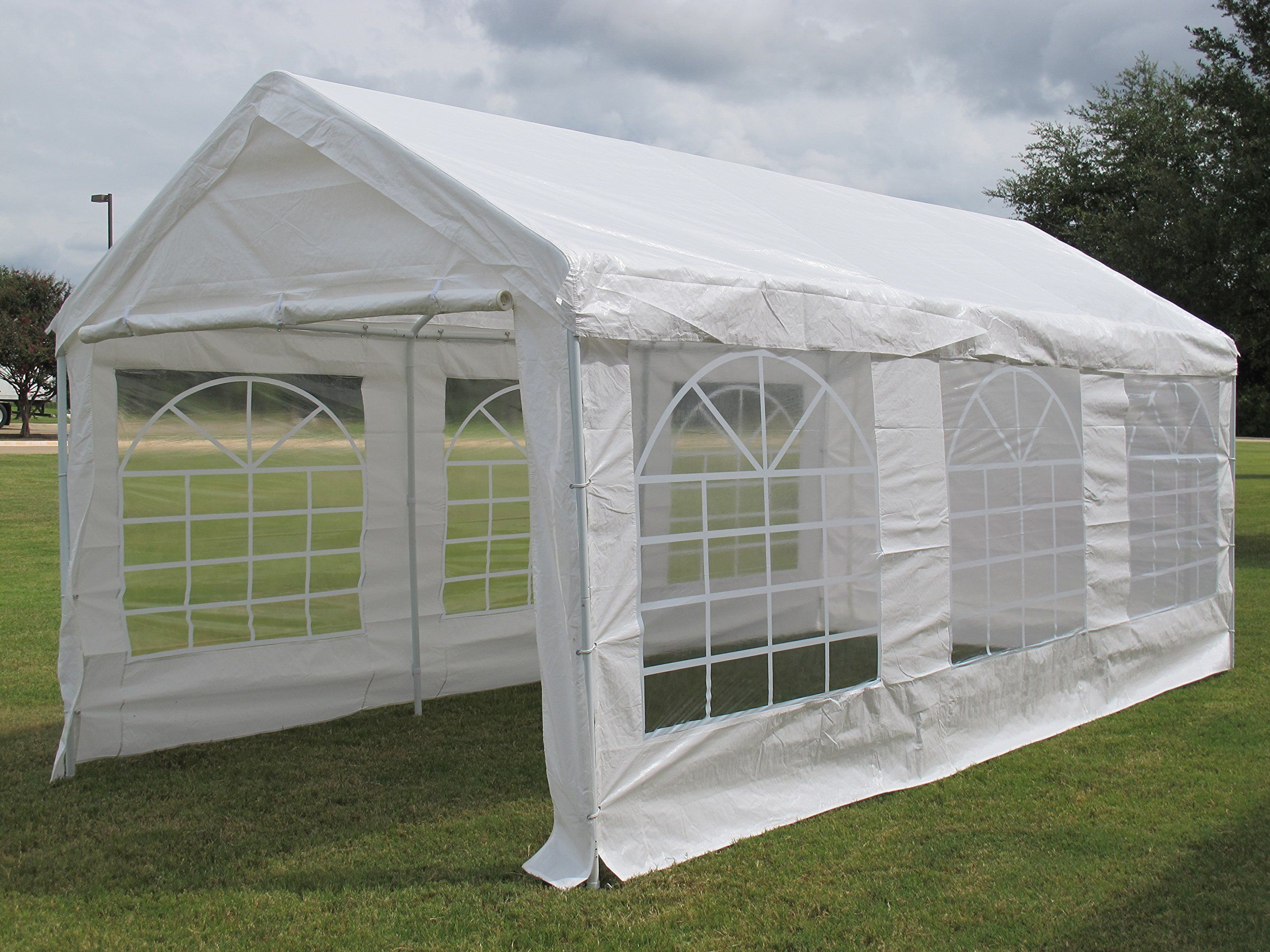 DELTA Canopies 20u0027X10u0027 PE Water Resistant Party Wedding Tent carport Canopy & DELTA Canopies 20u0027X10u0027 PE Water Resistant Party Wedding Tent ...
