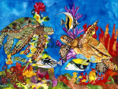 Underwater at the Bungalows  by Artist Candace Lee