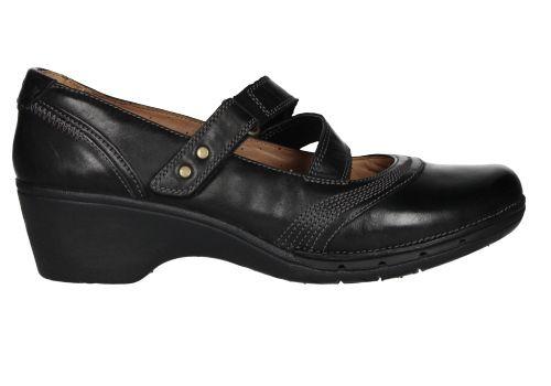 Zapatos Negras Clarks Correa Con Cruzada Merceditas wSqTCPOx8