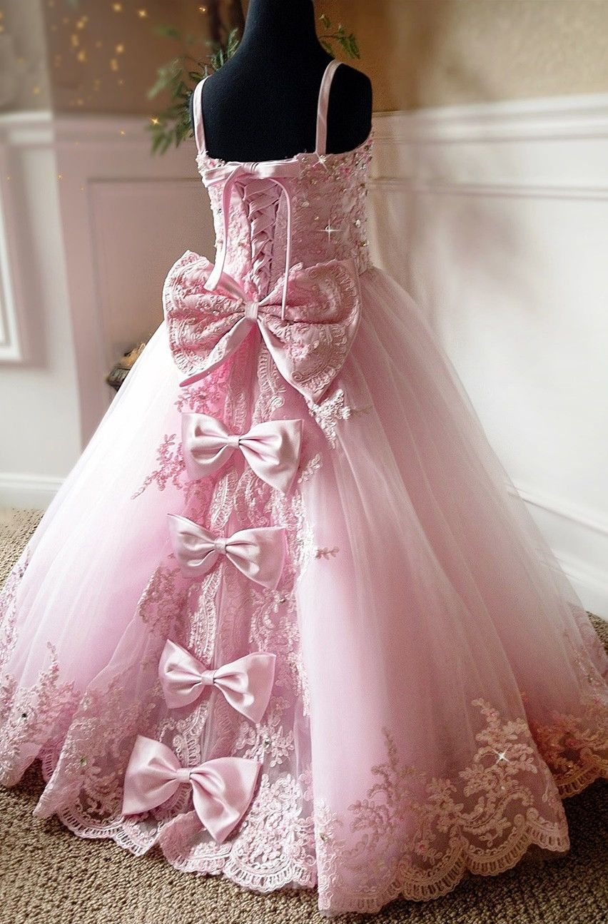 A Stunning Princess Style Flower And Special Occasion Dress