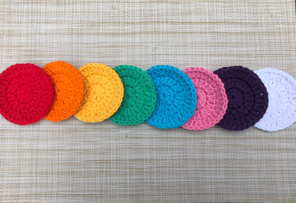 3inch Crochet Face scrubbies. Wash cloths. Make up