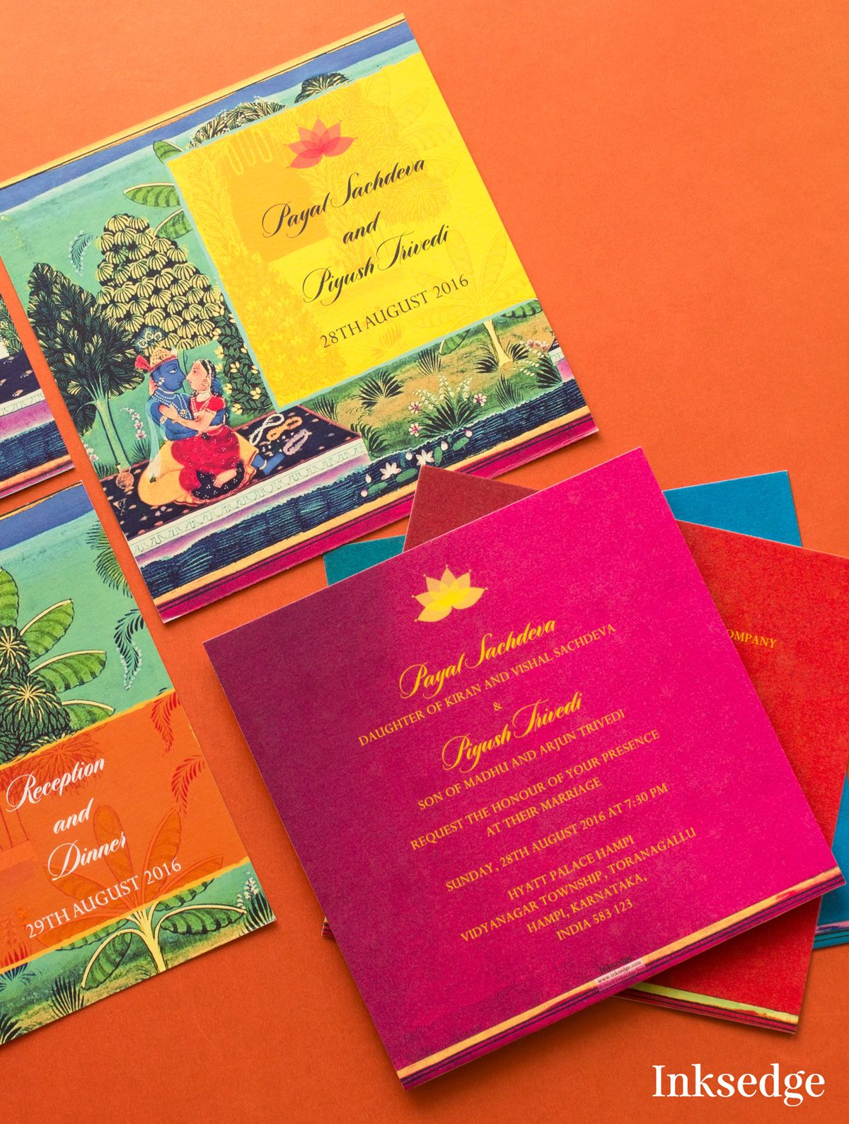 Paintings Coming Alive With Invitations Inksedge Inksedgeweddinginvitations Wedding Invitation Cards Online Indian Wedding Cards Hindu Wedding Invitations