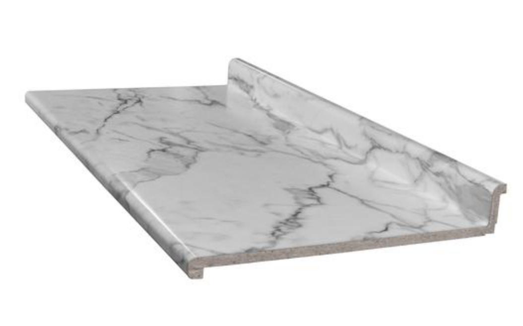Calacatta Marble Laminate Countertop From Menards Laminate Countertops Countertops Calacatta Marble