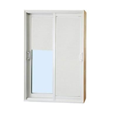 Stanley doors 60 in x 80 in double sliding patio door with stanley doors double sliding patio door with internal mini blinds 500004 the home depot planetlyrics Gallery