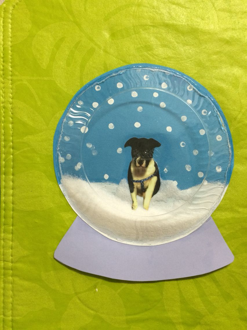 Sample of the snow globes for my students blue paper any