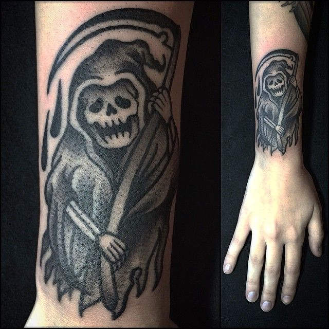 You can hide but you can't escape!! #tattoo #deathtattoo