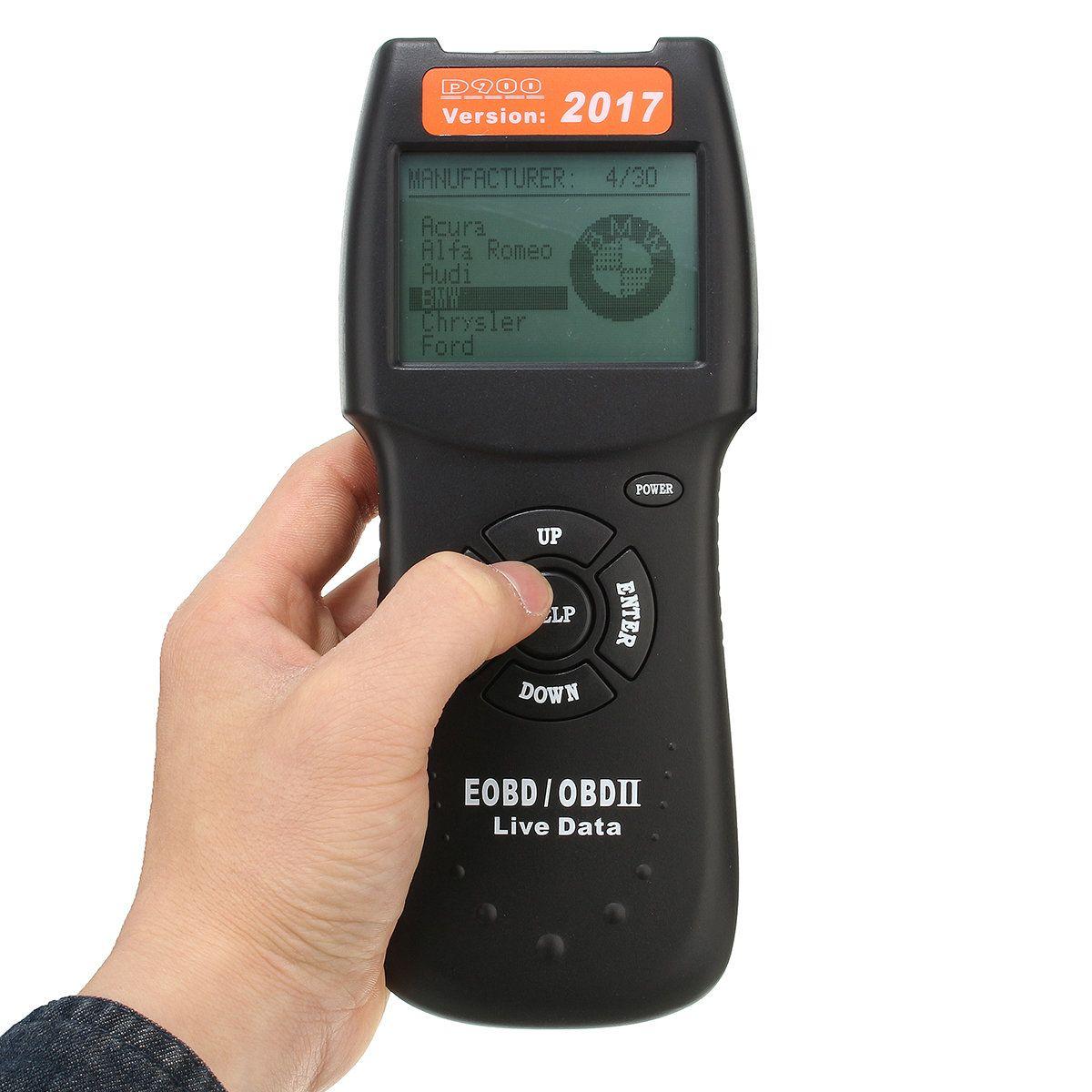 2017 ver car obd2 eobd can fault code reader scanner d900