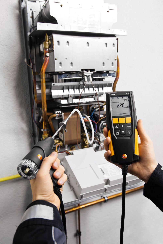 testo 310 Flue Gas Analyzer Part No. 0563 3100 The new