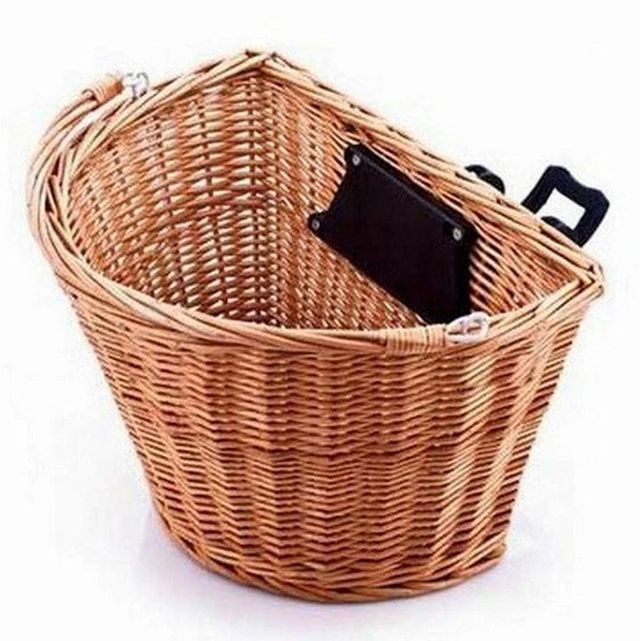 Wiklinowy Koszyk Retro Roswheel Click Na Rower Decorative Wicker Basket Wicker Laundry Basket Laundry Basket