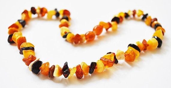 Baltic Amber  Teething Necklace for Baby  Mix Colored by Evamber, $6.95