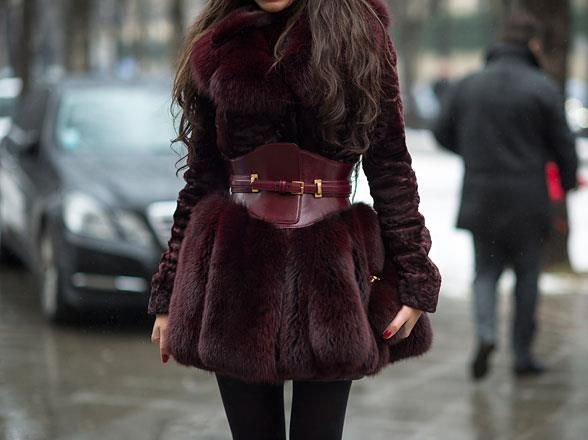 It Is Chilly Fur Real! burgundy fur coat – The Dream Item
