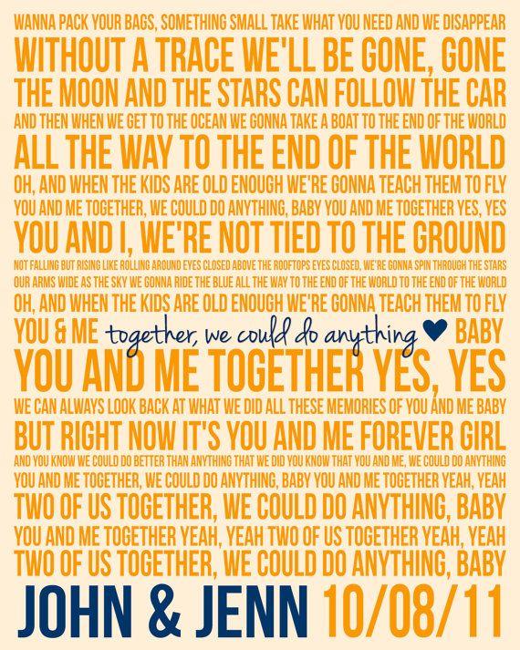 Custom Song Lyric Poster