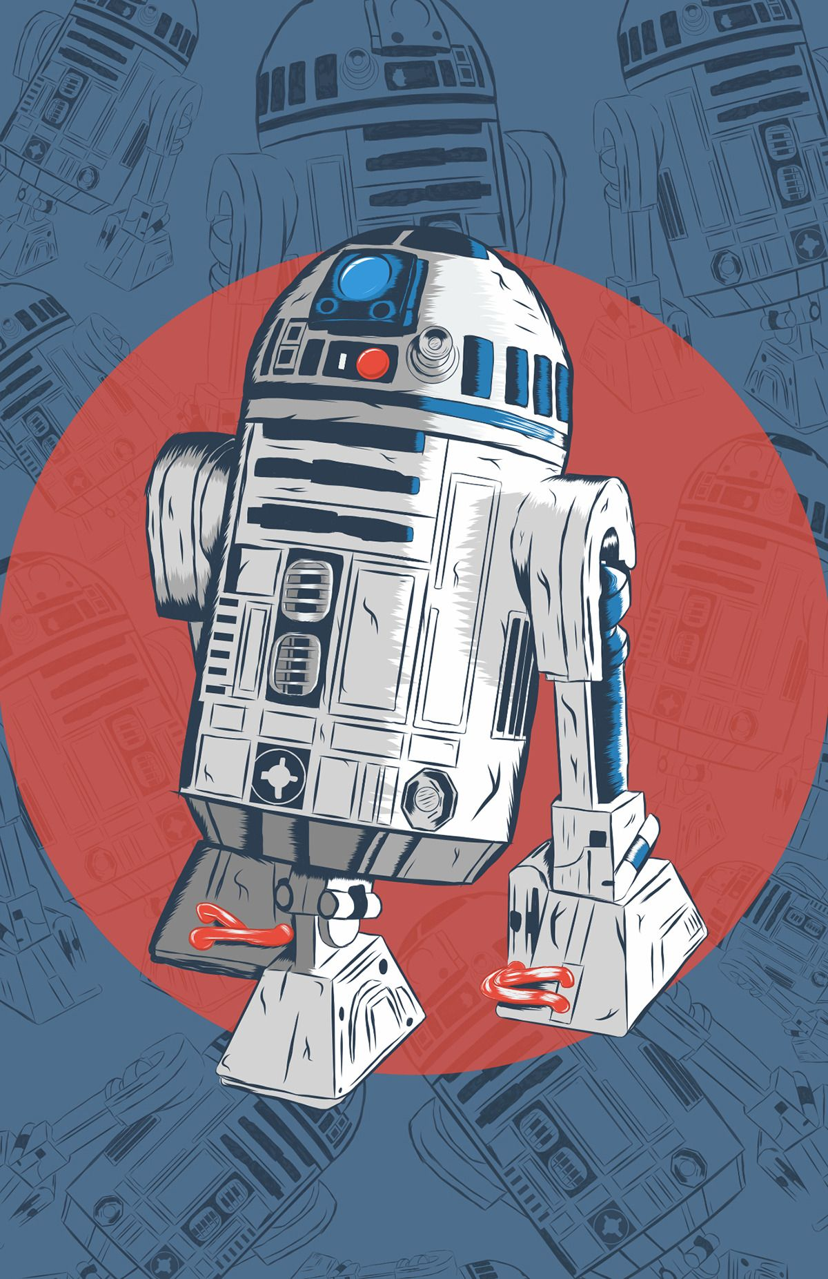 Bb 8 R2 D2 Fan Art Created By Karl Smith Star Wars Painting Star Wars Wallpaper Star Wars Poster