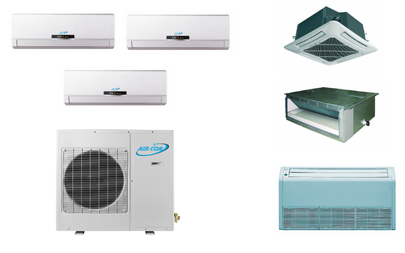 Aircon 3 Zone In Minisplitwarehouse Com Find The Best Air Conditioner For Your Space Aircon 3 Zone 24k Duct Heat Pump Ductless Heat Pump Air Conditioner Units
