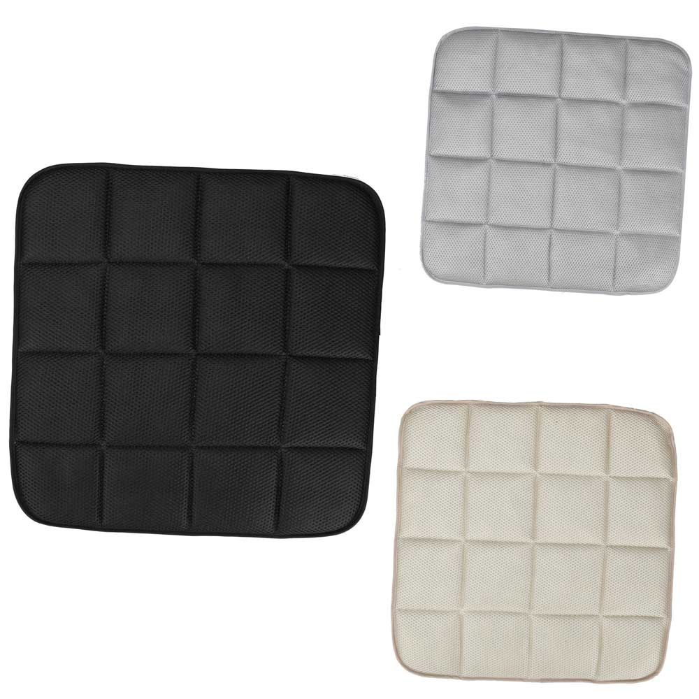 42cm 42cm Bamboo Charcoal Leather Interior Front Seat Cushion Four