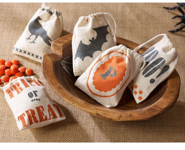 Decorated Halloween Treat Bags from Martha Stewart Crafts Martha - decorate halloween bags