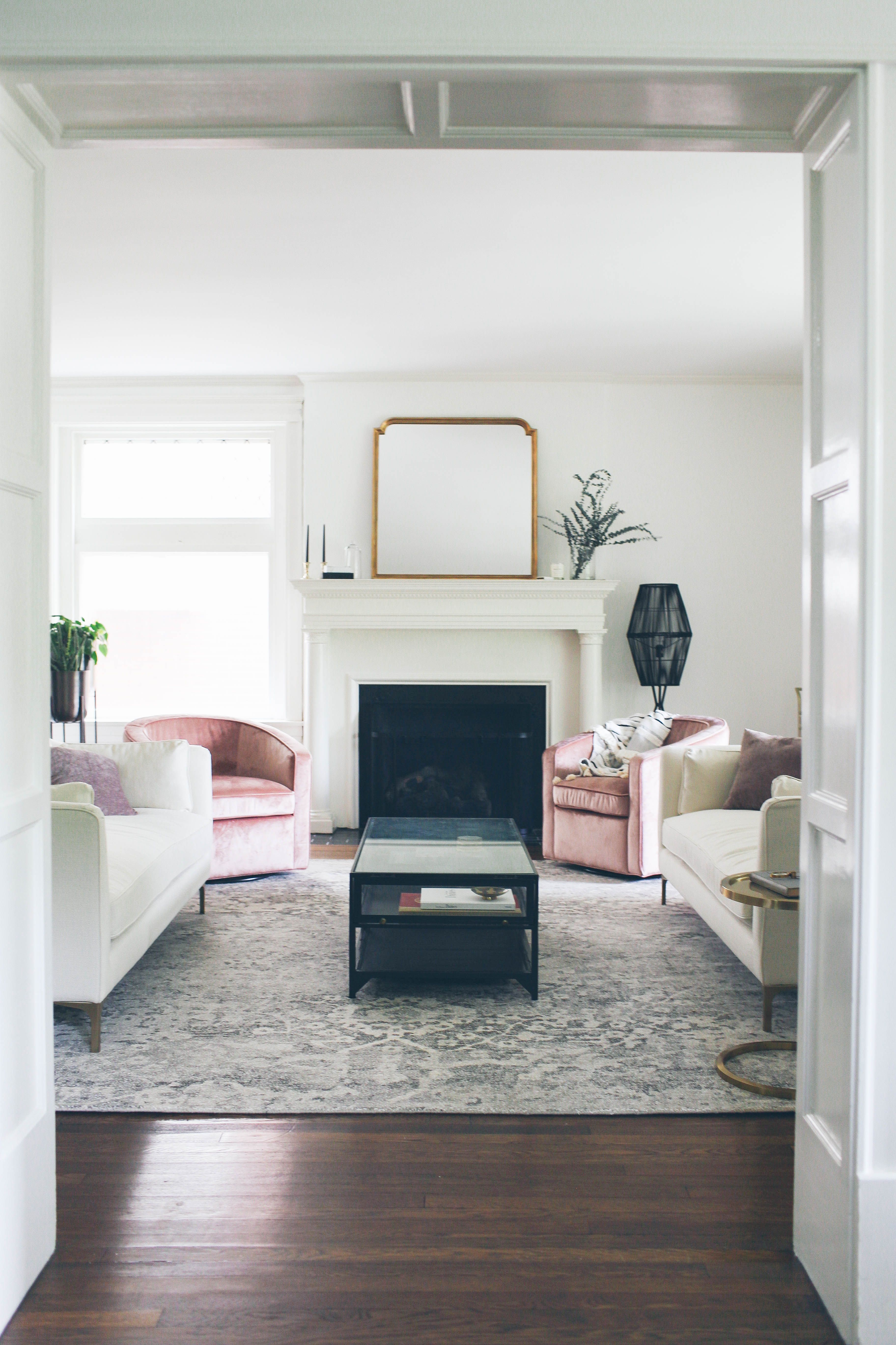 Our Formal Living Room Entryway Lows To Luxe Living Room And Kitchen Design Formal Living Rooms Small Living Rooms #small #formal #living #room