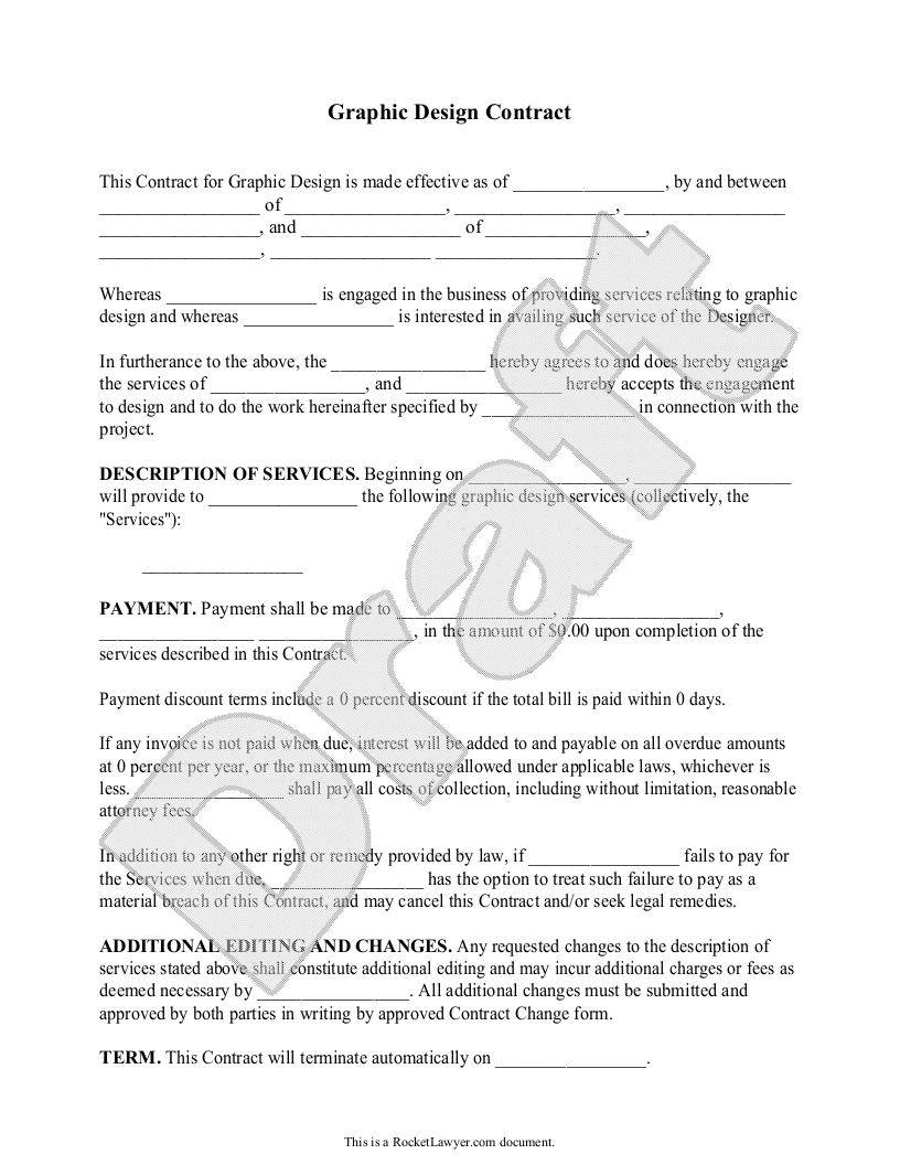 Make a quick legal doc for contracting quick – Sample Freelance Contract Template
