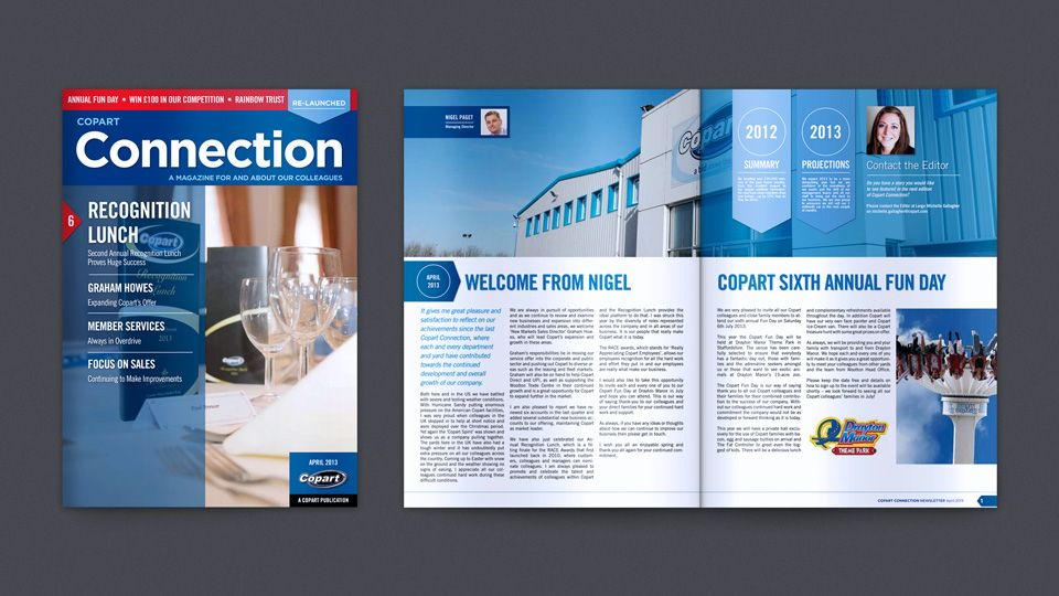 Copart  Newsletter Designers And Graphic Designers In Milton