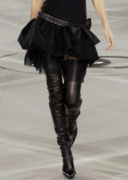 12a2d86b06f The thigh high CHANEL boots featured in The Devil Wears Prada.
