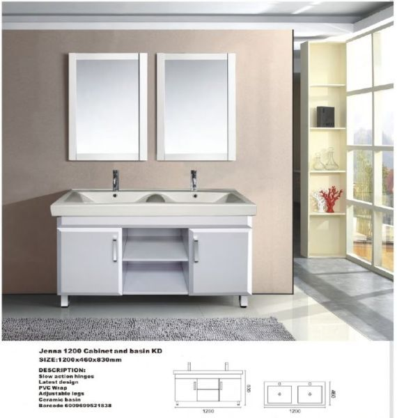 jenna cabinet 1200 and basin kd bbcbje1200only the johannesburg areas will receive a free delivery