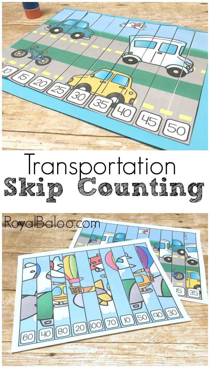 transportation skip counting puzzles for hands on math royal baloo blog posts counting. Black Bedroom Furniture Sets. Home Design Ideas