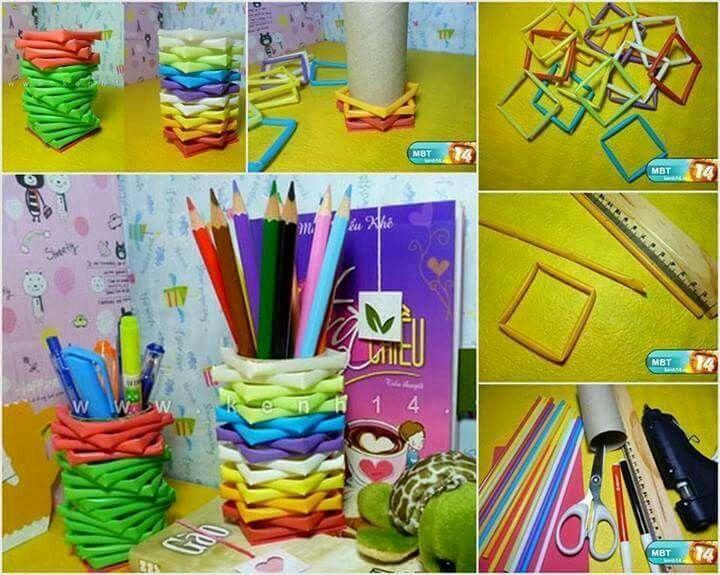 Pin Di Gabriella Su Lavoretti Easy Diy Crafts Pencil Holder E Crafts