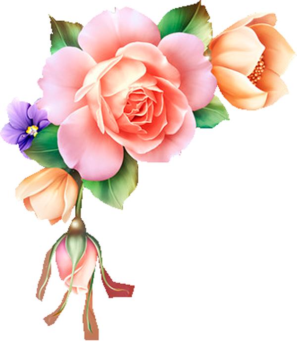 da8f25ea.png (600×691) Arte flor, Flores pintadas