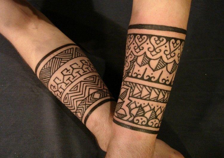 Inca Aztec Tattoo Designs Gallery Tribal Wrist Tattoos Tribal Band Tattoo Cuff Tattoo