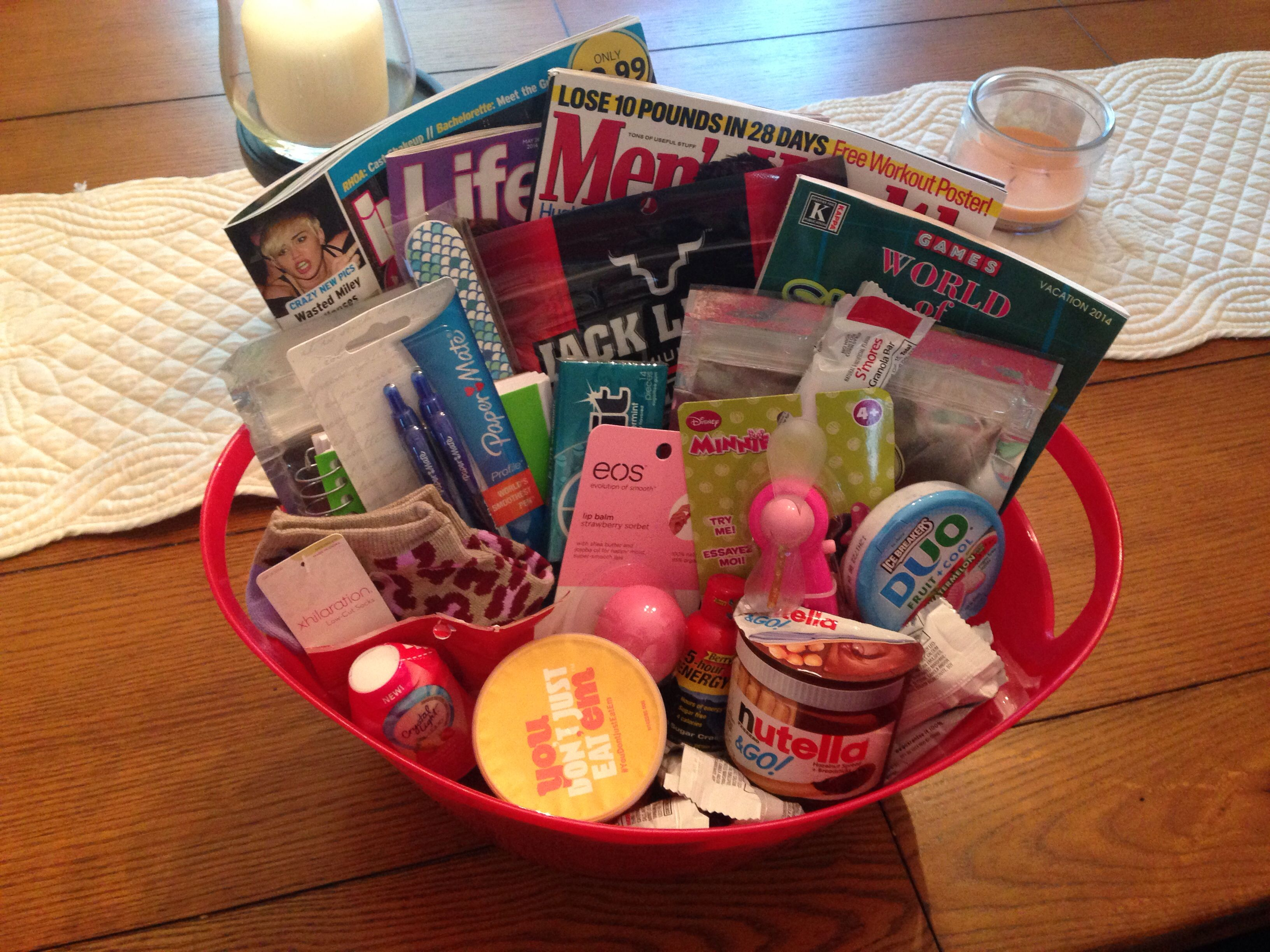 labor and delivery hospital survival kit baby shower gift labor kit snack basket
