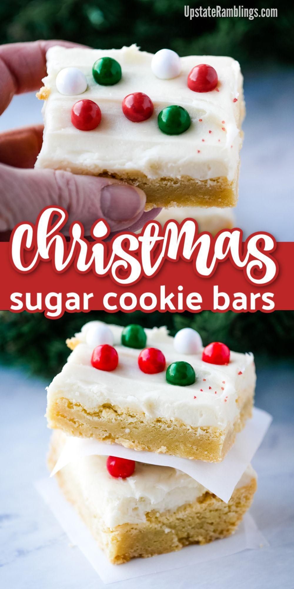 Christmas Sugar Cookie Bars - Anne G - Christmas Sugar Cookie Bars        These Sugar Cookie Bars a