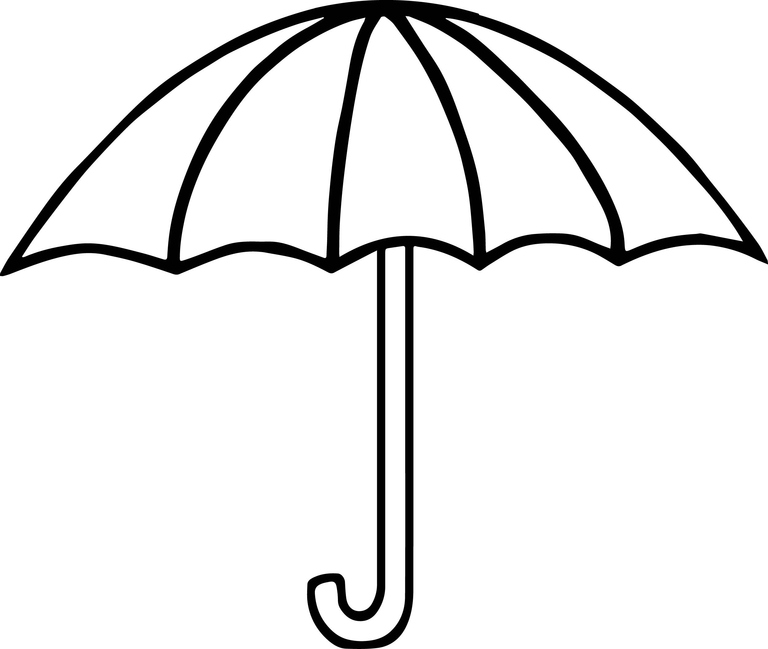 Summer Umbrella Coloring Page Wecoloringpage And