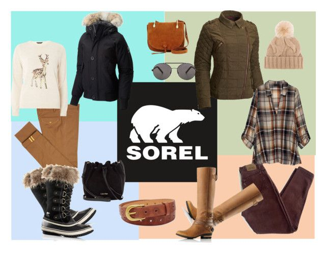"""""""Tame Winter with SOREL: Contest Entry"""" by spectrearcane ❤ liked on Polyvore featuring SOREL, Diverso, Dorothy Perkins, Levi's, Bobeau, Seafolly, Loro Piana, Elizabeth and James, Calvin Klein and FOSSIL"""