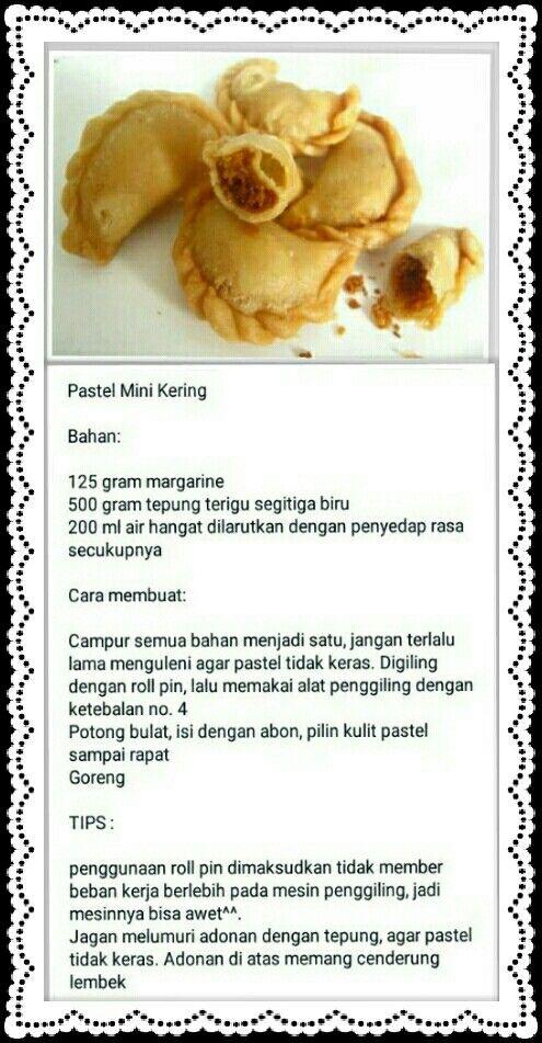 Pastel Mini Kering Isi Abon Ide Makanan Makanan Dan Minuman Resep Makanan