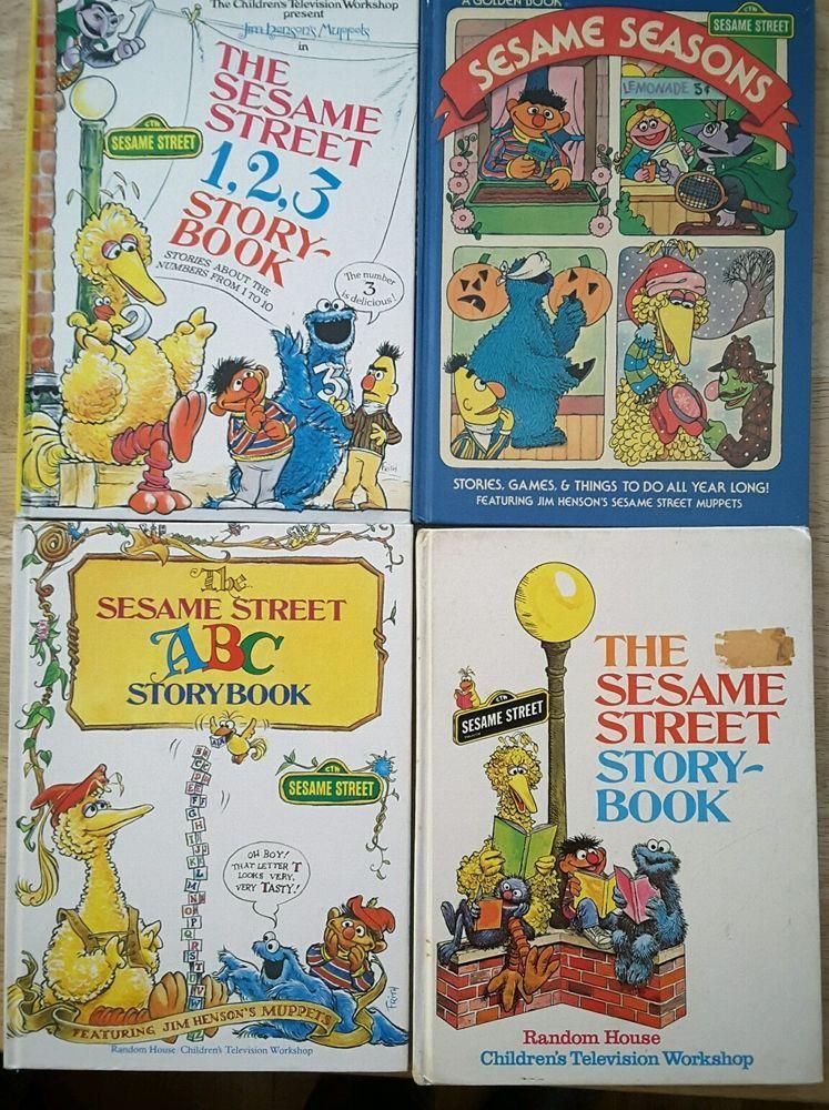 Sesame Street book LOT Storybook ABC 123 Book Sesame Seasons