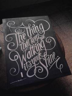 Handwritten Typography American