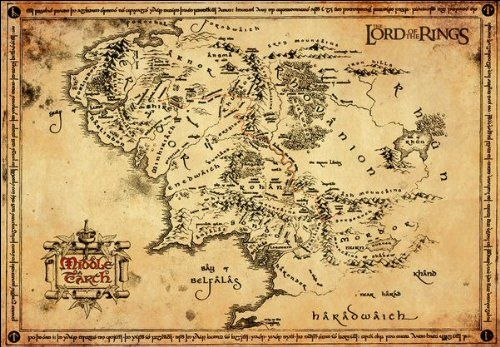 lord of the rings parchment map parchment map amazoncouk kitchen home