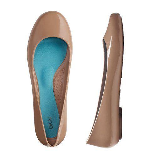 404e865dcbadca Amazon.com  OKA b. Taylor Round Toe Jelly Flat Shoe - Jade  Shoes ...