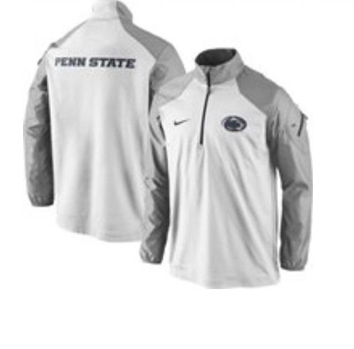 8888fcaa9fea Penn State Men s Nike Lockdown Coaches 1 2 Zip Jacket XL WHITE - James  Franklin  Nike