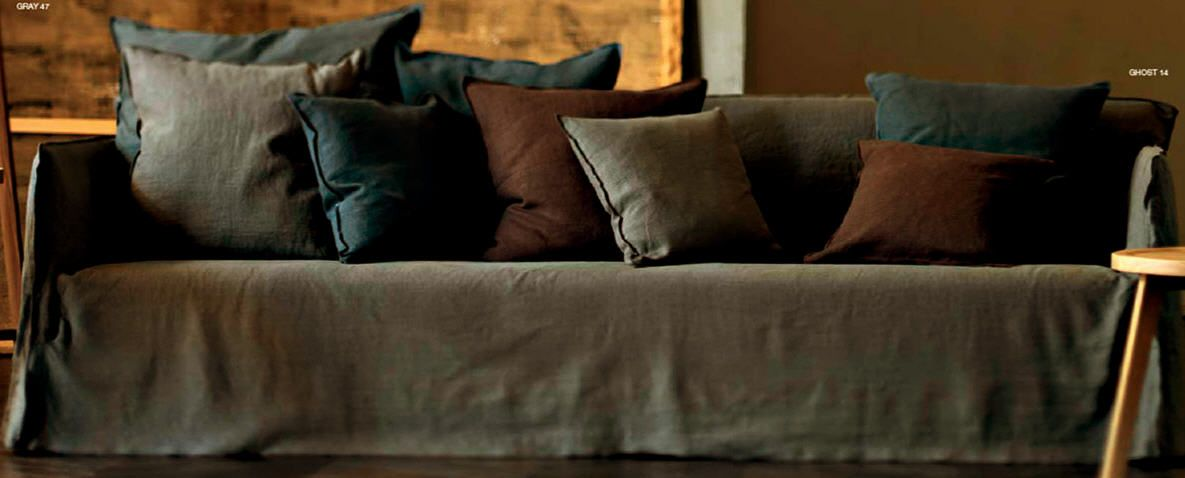 gray linen with pillows i bought a new couch have new outlook on life pinterest linens. Black Bedroom Furniture Sets. Home Design Ideas