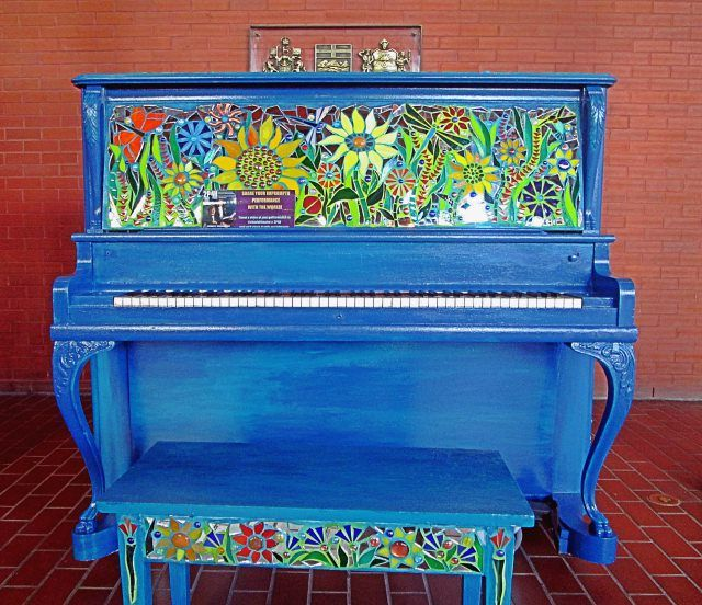I've seen some fun pianos on my travels that combine music and art. Here are a few public art pianos in New York City, New Orleans, Denver, and Edmonton.