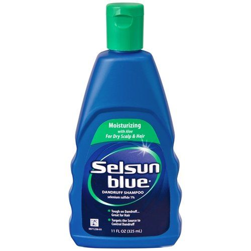 Selsun Blue Dandruff Shampoo Moisturizing With Aloe For Dry Scalp