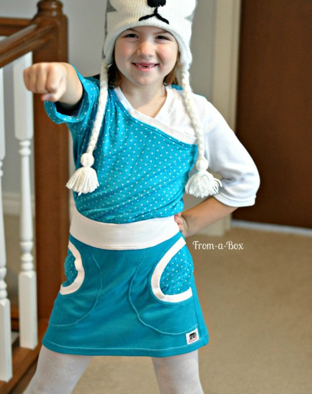 Sofilantjes Patterns   knit fabric shirt and skirt for a girl... nice and comfy, perfect for school #Sofilantjes
