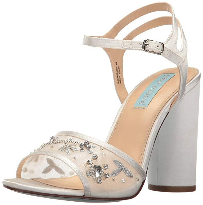 Betsey Johnson Blue Sb-mari Heeled Sandal in Gold