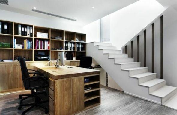 am nagement bureau domicile pratique 20 exemples bureau en bois et bois. Black Bedroom Furniture Sets. Home Design Ideas