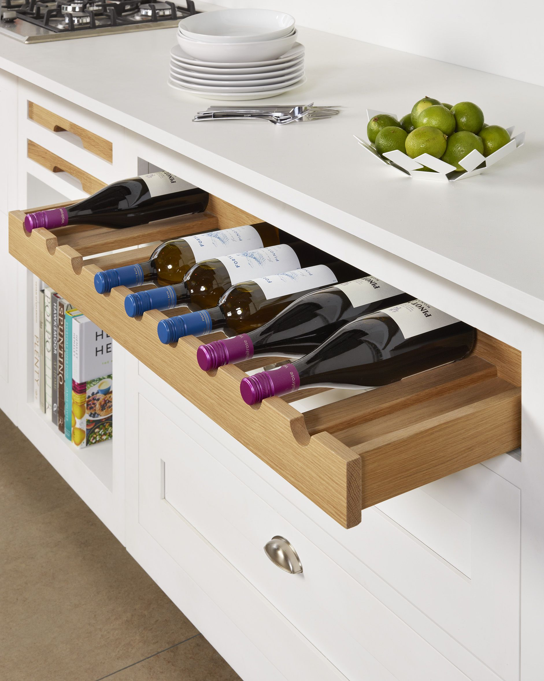 Our Recently Launched Pull Out Oak Wine Storage Drawer Wine Storage Cabinets Wine Storage Diy Wine Kitchen