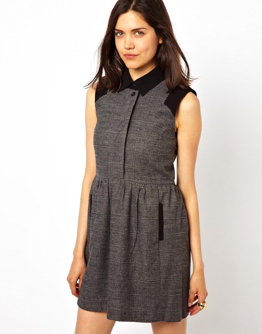 7389c04ad Check Pinafore Dress, Free Clothes, Mens Clothing Styles, Asos Online  Shopping,